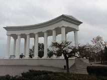 柱廊在傲德萨 免版税图库摄影