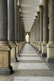 柱廊在卡尔斯巴德 免版税库存图片