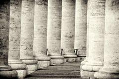 柱廊在罗马 库存图片