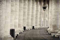 柱廊在罗马 库存照片