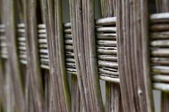 柳条篱笆条篱芭 图库摄影