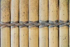 柳条纺织品 无缝秸杆的纹理  从自然米黄秸杆的柳条席子 免版税图库摄影