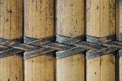 柳条纺织品 无缝秸杆的纹理  从自然米黄秸杆的柳条席子 库存照片