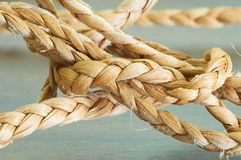 柳条被编织的织品 免版税库存图片