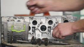 柴油引擎的发动机阀 影视素材