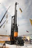 柴油挖掘机白色 库存照片