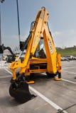 柴油挖掘机黄色 免版税图库摄影