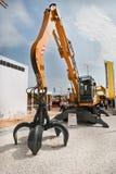 柴油挖掘机黄色 库存照片