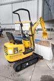 柴油挖掘机 库存图片