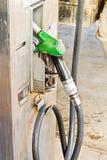 柴油的老加油泵 免版税图库摄影