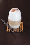 柴latte加香料的茶 免版税库存图片