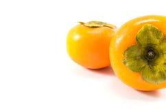 柿子两个看法  图库摄影