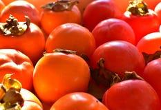 柿子健康橙色成熟果子 库存图片