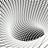 栅格黑白漩涡的隧道 免版税库存图片