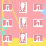 栅格Instagram饲料的3 x 3布局设计 库存例证