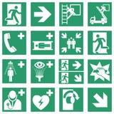 标准安全情况标志收藏 免版税库存照片