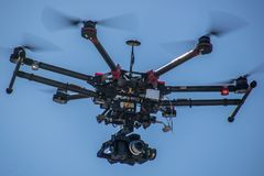 标准每年飞行表演在Rozas机场 免版税图库摄影