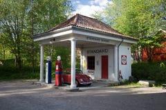 标准石油气体从1928的加油站被调迁对挪威伙计Musum在奥斯陆 免版税图库摄影