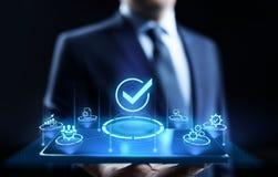 标准质量管理控制标准化和证明概念 库存图片
