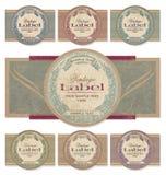 标号组向量葡萄酒 免版税库存照片