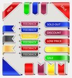 标号组贴纸标签 免版税库存图片
