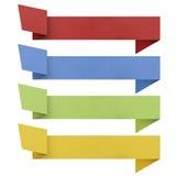 标头origami标签被回收的纸张。 免版税库存照片