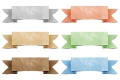 标头origami纸张被回收的标签 库存图片