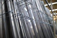 标尺,角度,由在银色颜色的铁制成 免版税库存照片