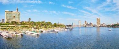 标尺El Farag邻里,开罗,埃及全景  免版税库存照片