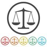 标度平衡象,正义被设置的标度象 库存例证