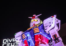 1:1标度流动衣服Gundam RX78-2 免版税库存照片