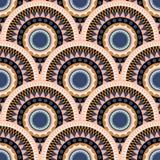 标度cirles摘要五颜六色的无缝的传染媒介样式 库存例证