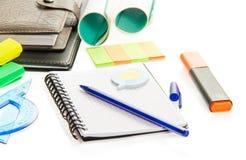 标志、练习本和传单笔记的 免版税图库摄影
