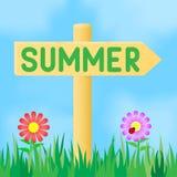 标志与题字夏天 免版税库存图片