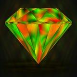 标志五颜六色的绿色和红色水晶 免版税库存照片