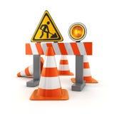 标志修理路 免版税库存图片