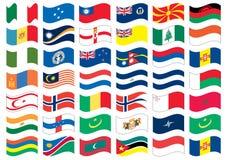 标志充分的国家零件集 免版税库存图片