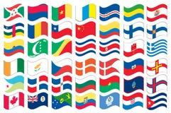 标志充分的国家零件集 免版税图库摄影