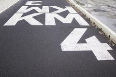 标志公里路 免版税库存照片