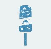 标志冰淇凌和暑假 免版税图库摄影