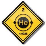 标志化学字符氦气 图库摄影