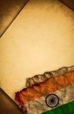 标志印度老纸张 图库摄影