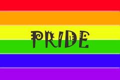 标志同性恋者自豪感 免版税库存图片
