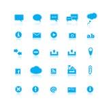 系统标志和对话 免版税库存照片
