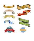 标志和标签 免版税库存照片