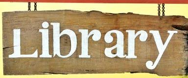 标志图书馆 免版税库存照片