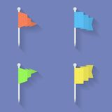 标志图标设置了 平的样式 免版税库存图片