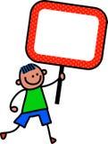 标志孩子 向量例证