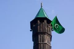 标志尖塔清真寺 图库摄影