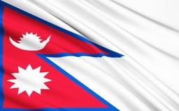 标志尼泊尔 皇族释放例证
